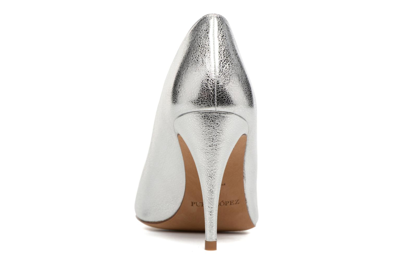High heels Pura Lopez Lorina Silver view from the right