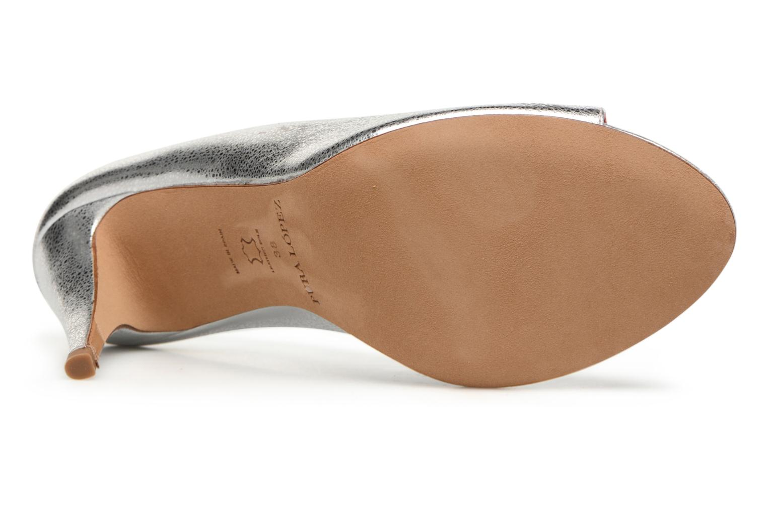 High heels Pura Lopez Lorina Silver view from above