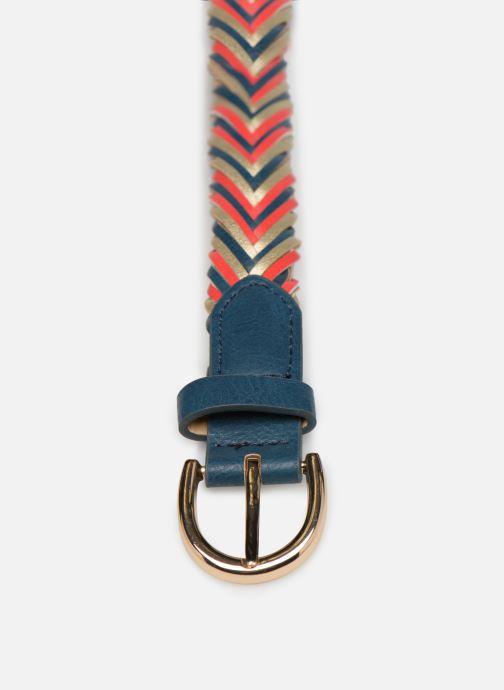 Belts Pieces Lion Braided Jeans Belt Blue front view