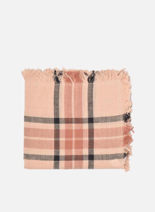 Sciarpa y foulard Pieces Larina Square scarf Beige modello indossato