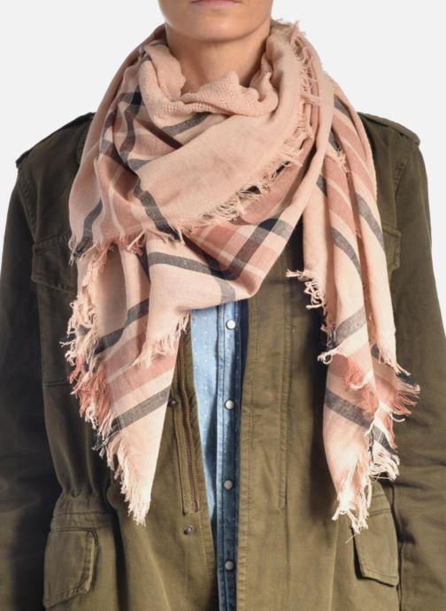Echarpes et Foulards Pieces Larina Square scarf Beige vue haut