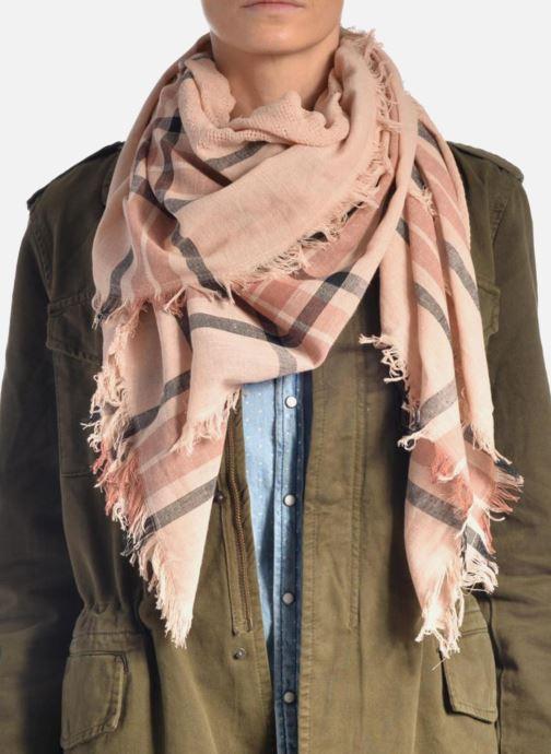 Echarpes et Foulards Pieces Larina Square scarf Bleu vue haut