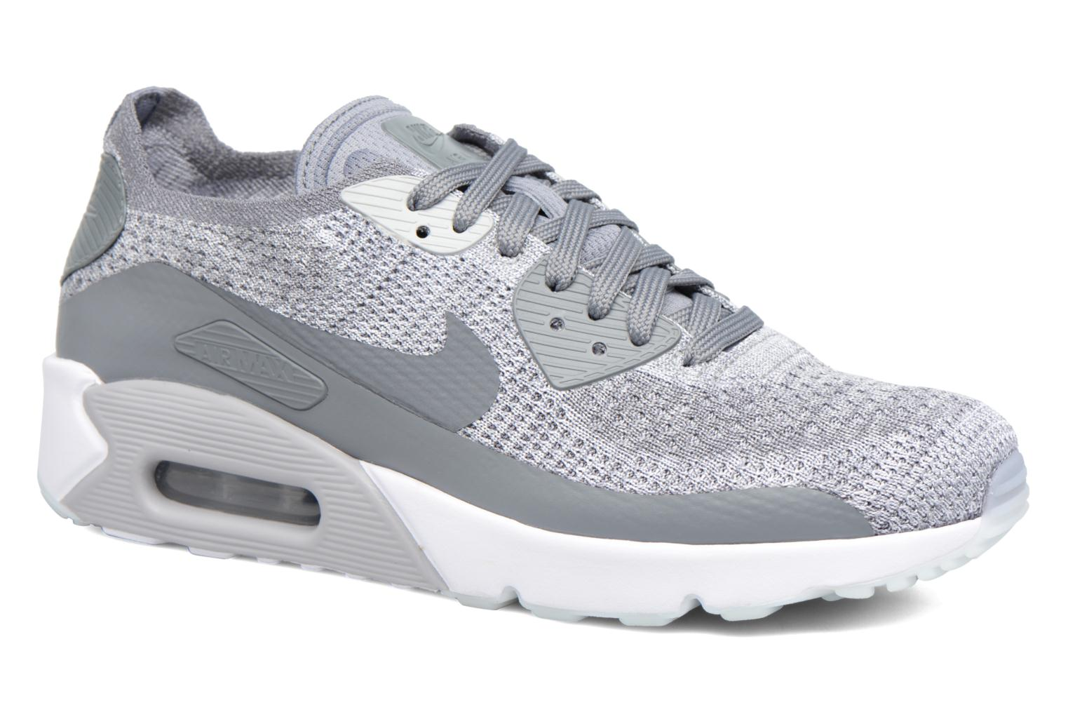 Baskets Nike Air Max 90 Ultra 2.0 Flyknit Gris vue détail/paire