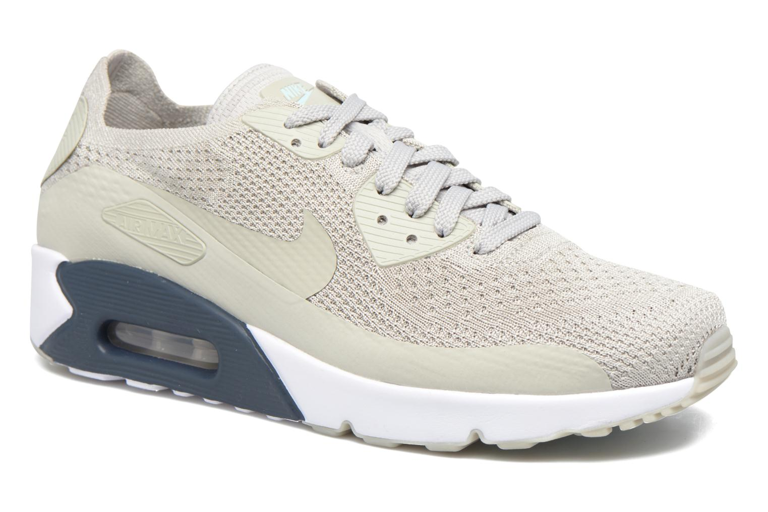 Trainers Nike Air Max 90 Ultra 2.0 Flyknit Beige detailed view/ Pair view