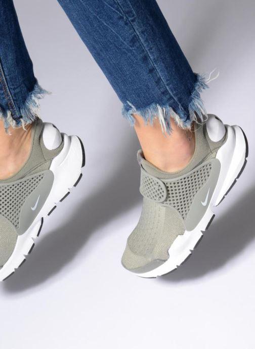 Baskets Nike Wmns Nike Sock Dart Vert vue bas / vue portée sac