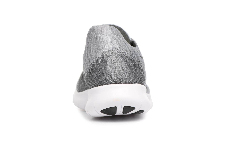 Scarpe sportive Nike Wmns Nike free Rn Flyknit 2017 Grigio immagine destra