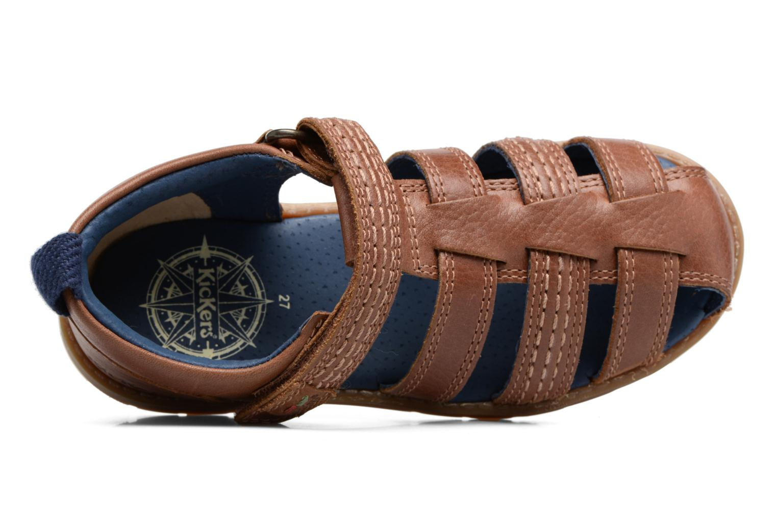 Sandals Kickers Orin Sandal Brown view from the left
