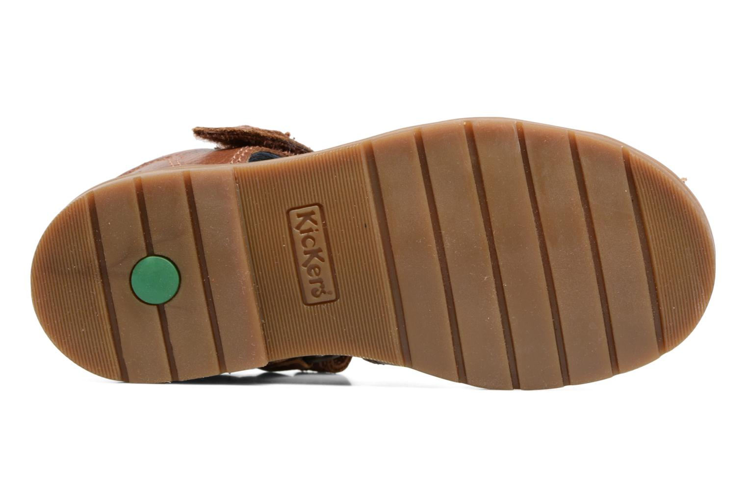 Sandals Kickers Orin Sandal Brown view from above