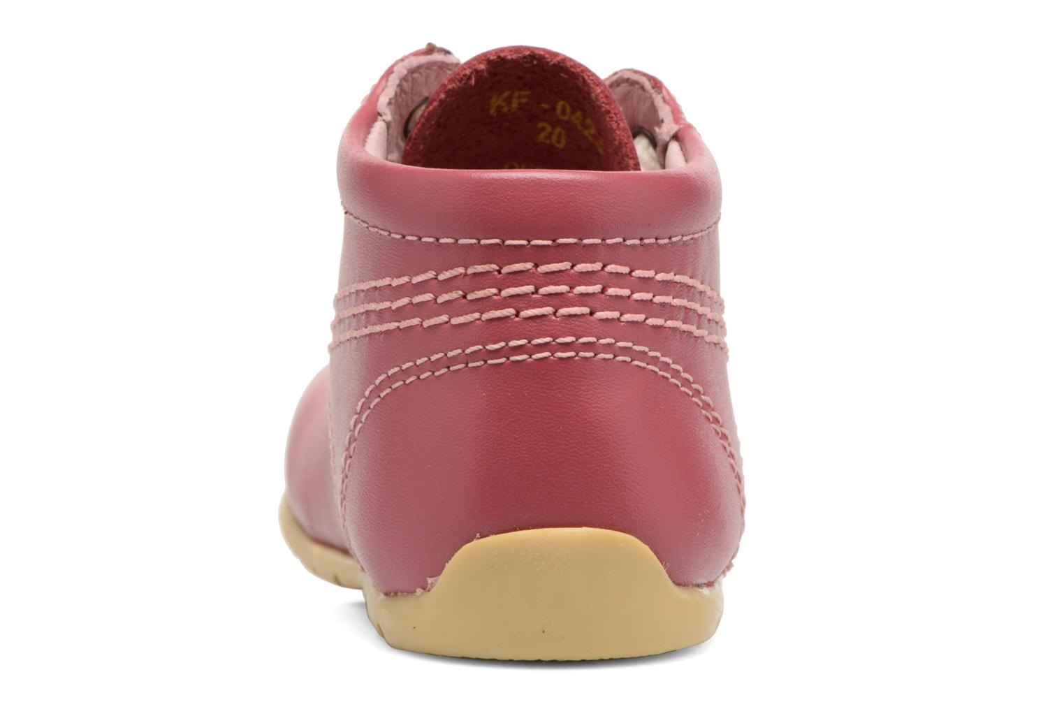 Ankle boots Kickers Kick Hi B Pink view from the right