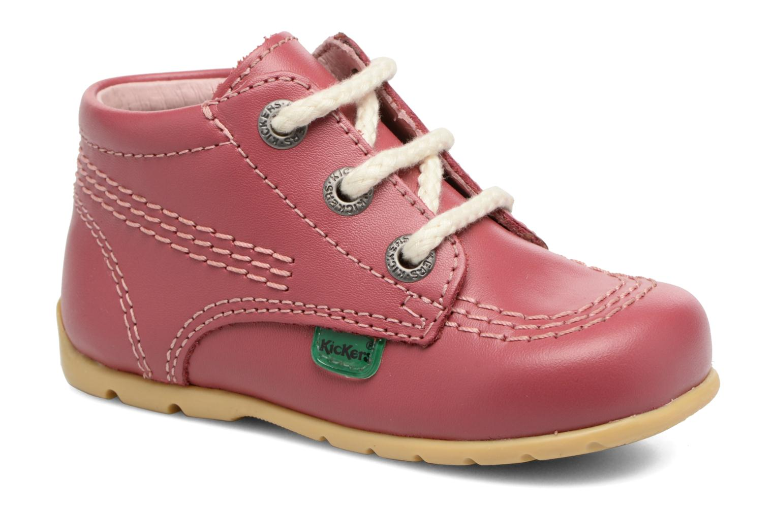Ankle boots Kickers Kick Hi B Pink detailed view/ Pair view