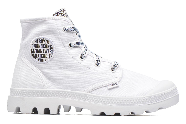 Sneakers Palladium Pampa Hi 70Th U Wit achterkant