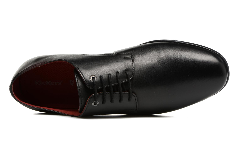 Scarpe con lacci Kickers Praduks Nero immagine sinistra