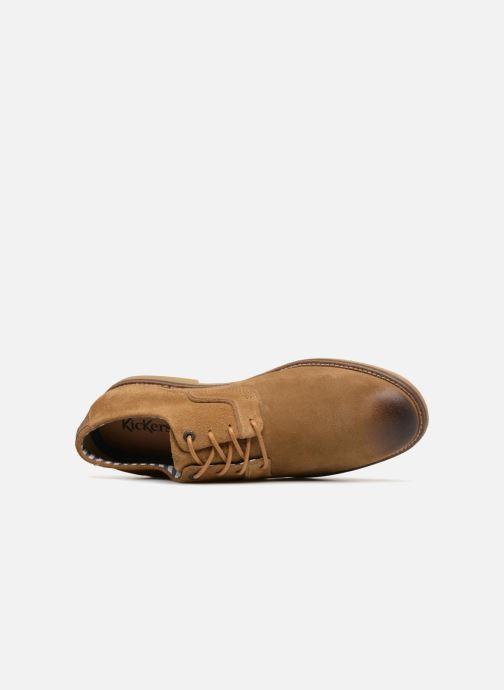 Chaussures à lacets Kickers Bachalcis Beige vue gauche