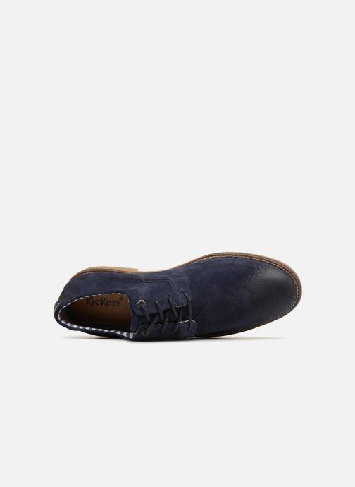 Scarpe con lacci Kickers Bachalcis Azzurro immagine sinistra