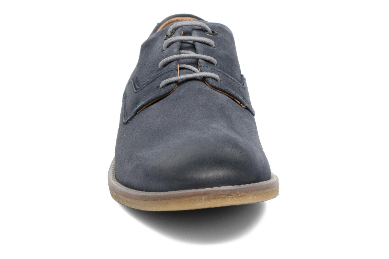 Schnürschuhe Kickers Bachalcis blau schuhe getragen