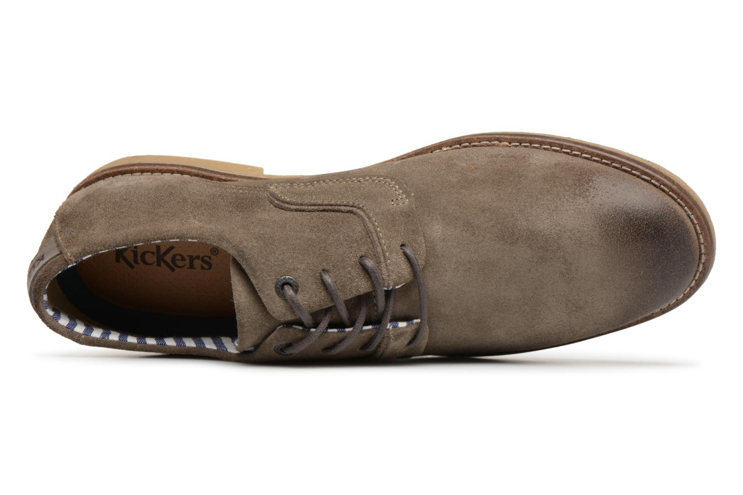Veterschoenen Kickers Bachalcis Grijs links