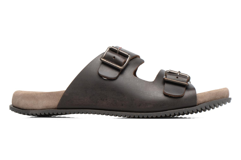 Sandalen Kickers Relaxou braun ansicht von hinten