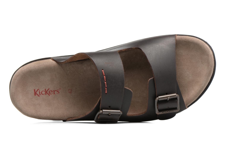 Sandalen Kickers Relaxou braun ansicht von links