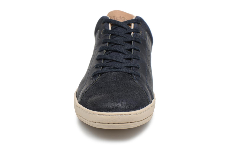 Baskets Kickers Sniff Bleu vue portées chaussures