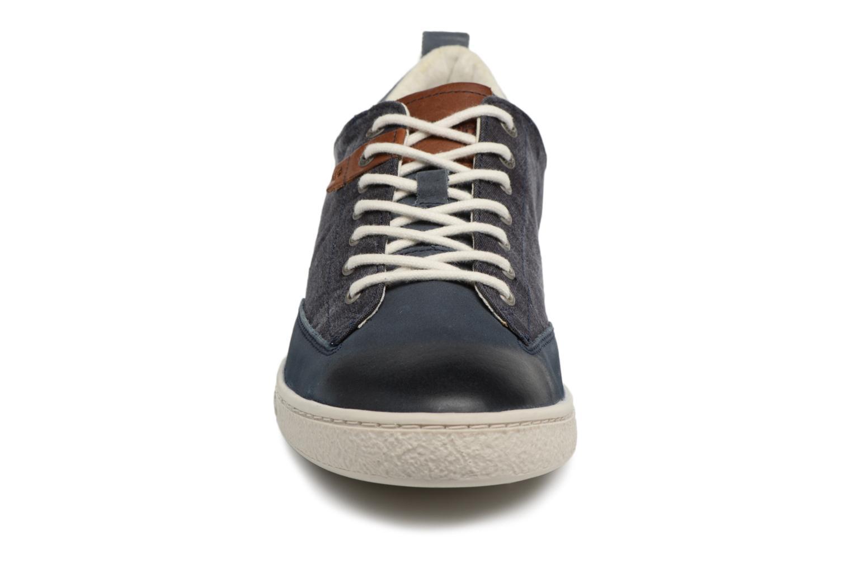 Baskets Kickers Santa Fe Bleu vue portées chaussures