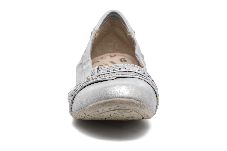 Ballerines Mustang shoes Camila Argent vue portées chaussures