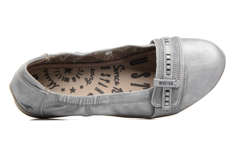 Ballerines Mustang shoes Camila Argent vue gauche