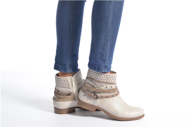 Bottines et boots Mustang shoes Calliope Beige vue bas / vue portée sac