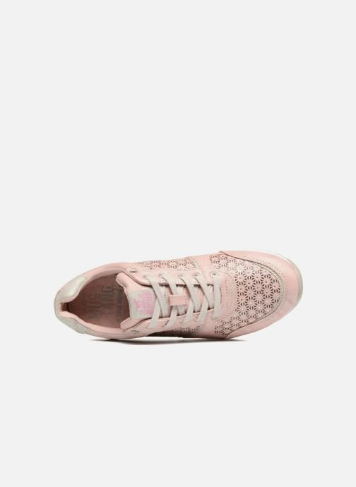 Sneaker Mustang shoes Cacilia rosa ansicht von links