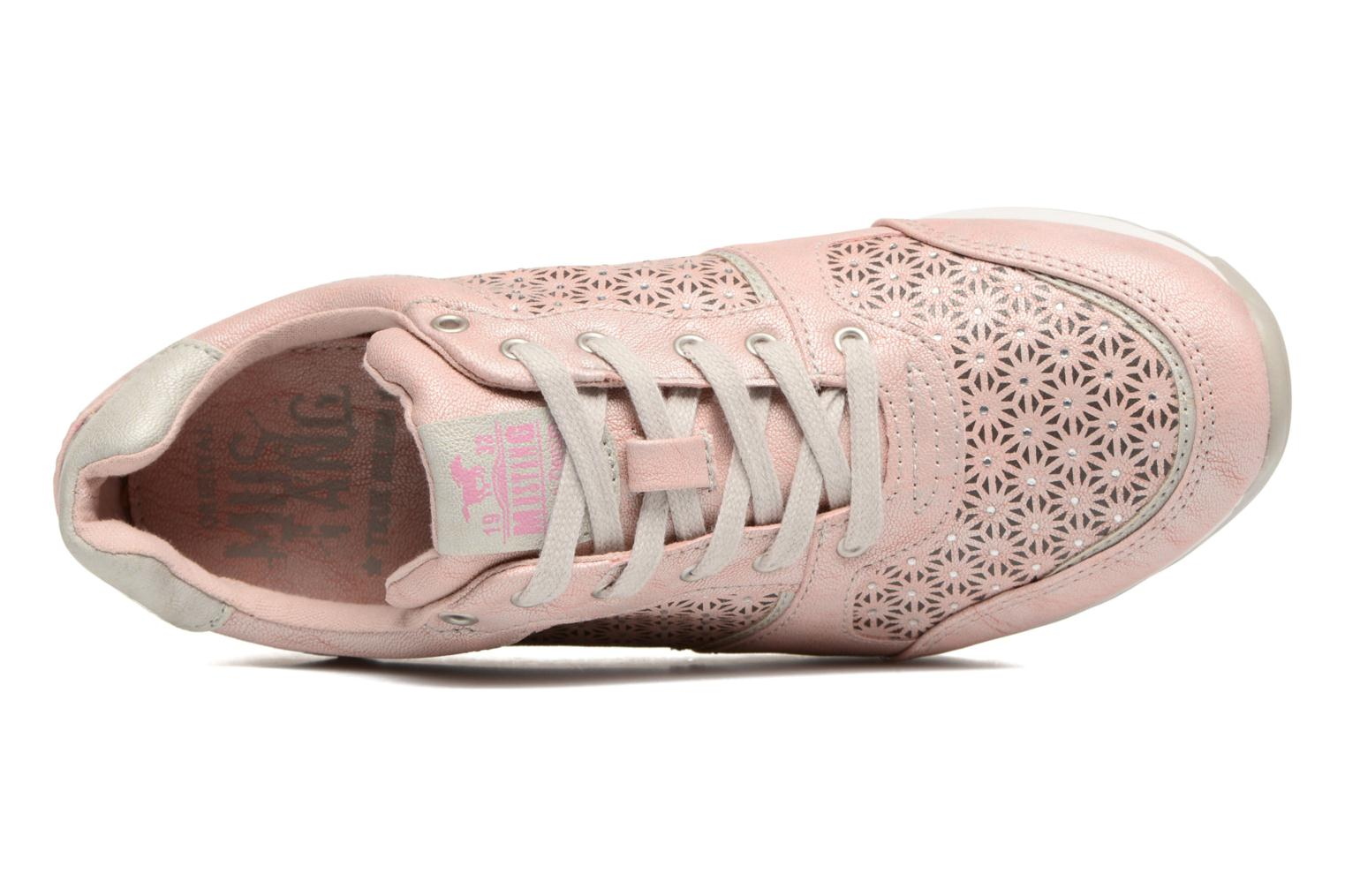 Trainers Mustang shoes Cacilia Pink view from the left