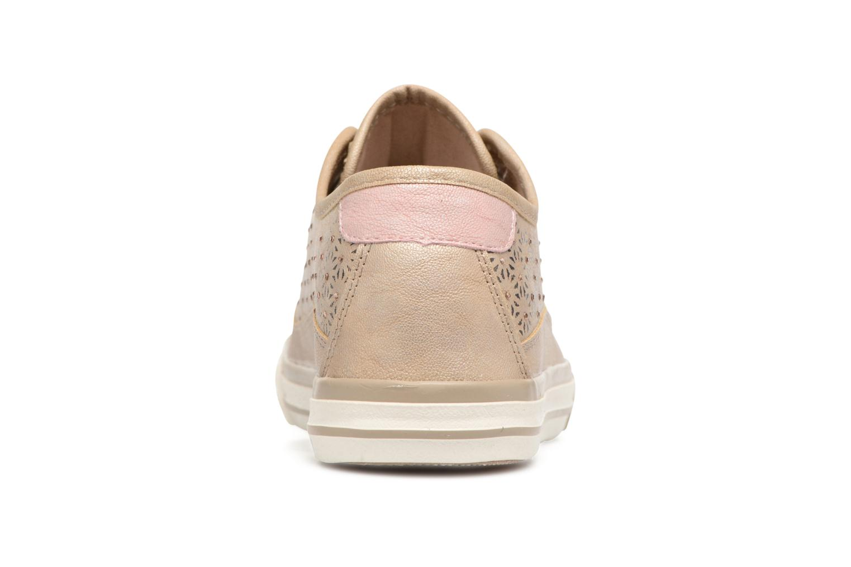 Sneaker Mustang shoes Verena beige ansicht von rechts