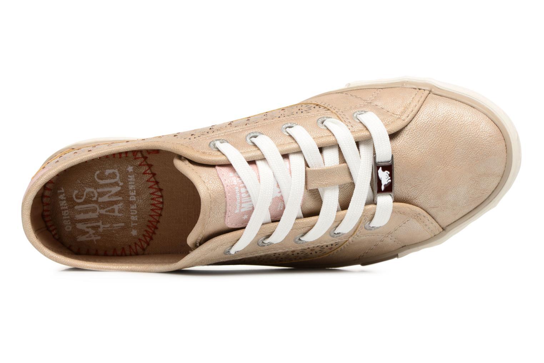 Sneaker Mustang shoes Verena beige ansicht von links