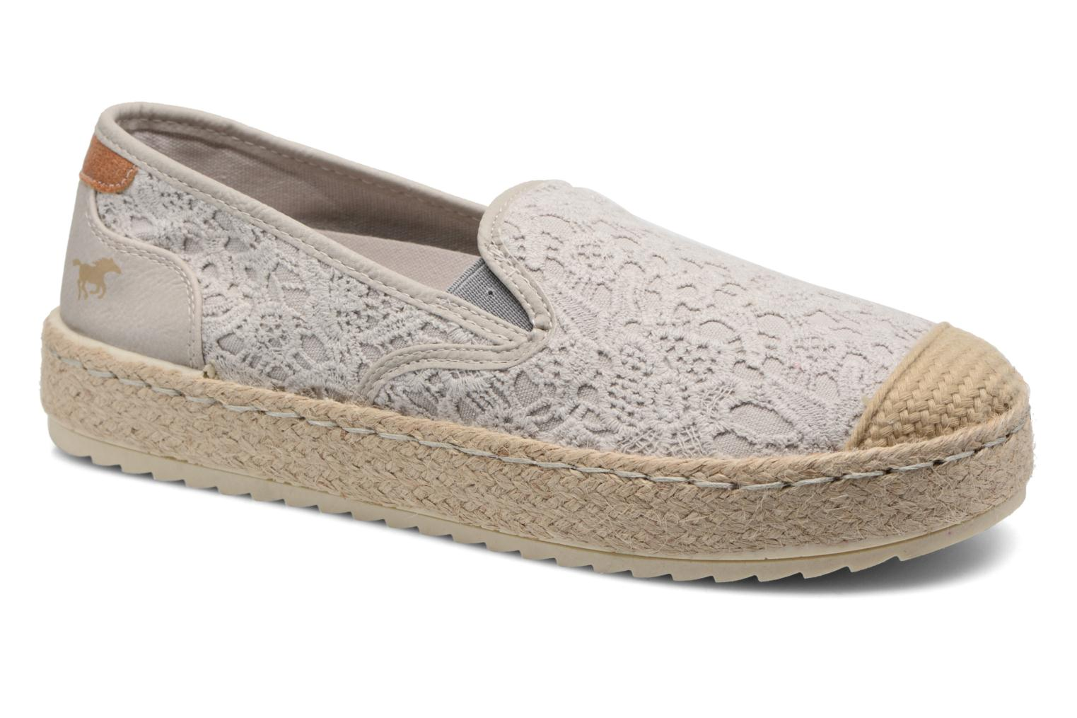 Espadrilles Mustang shoes Liese Grey detailed view/ Pair view
