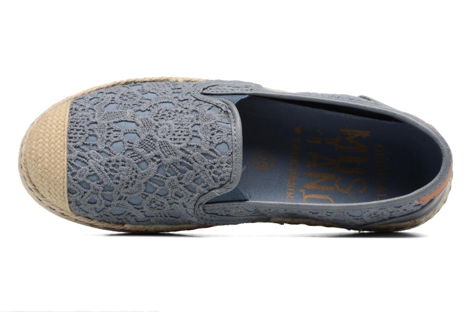 Espadrilles Mustang shoes Liese Blue view from the left