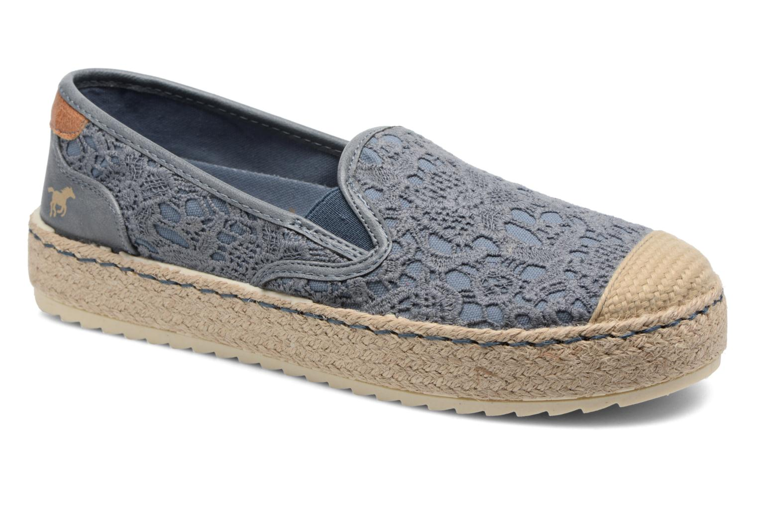 Espadrilles Mustang shoes Liese Blue detailed view/ Pair view