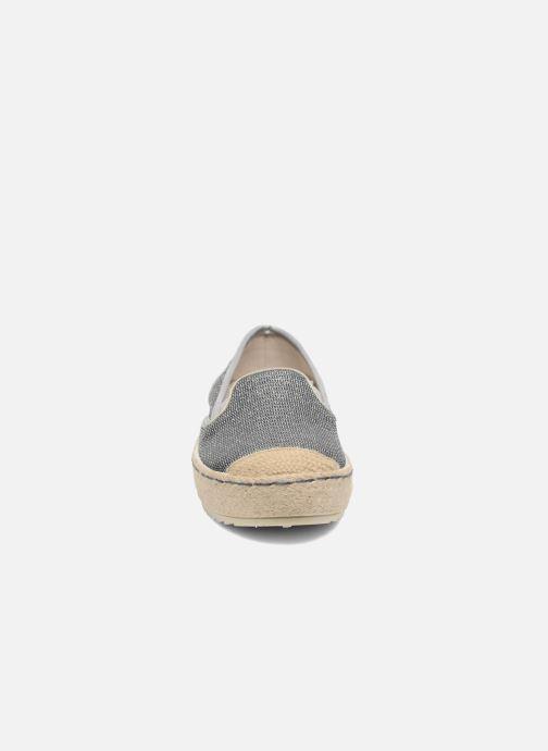 Espadrilles Mustang shoes Silke grau schuhe getragen