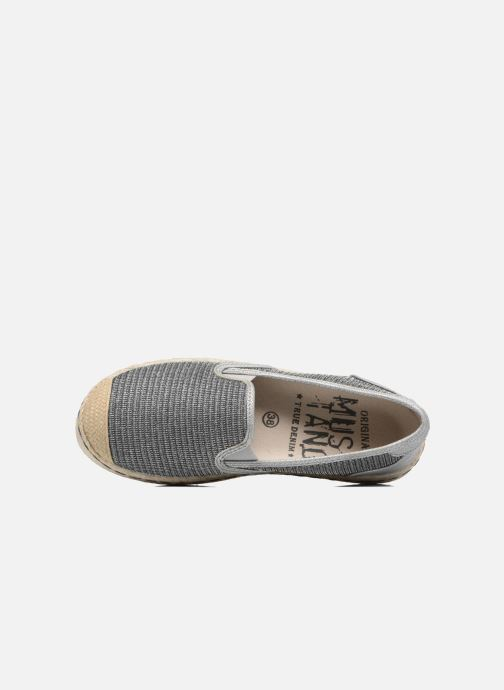 Espadrilles Mustang shoes Silke Grijs links