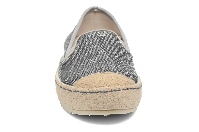 Espadrilles Mustang shoes Silke Gris vue portées chaussures