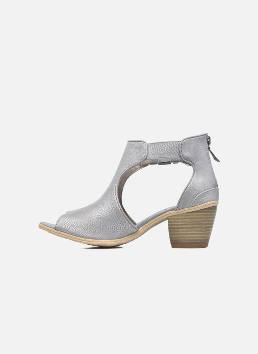 Bottines et boots Mustang shoes Theda Gris vue face