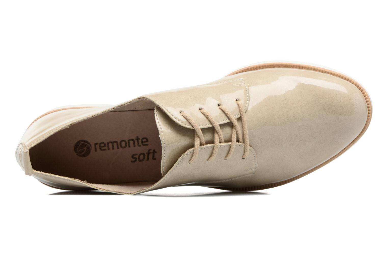 Chaussures à lacets Remonte Malou R0400 Beige vue gauche