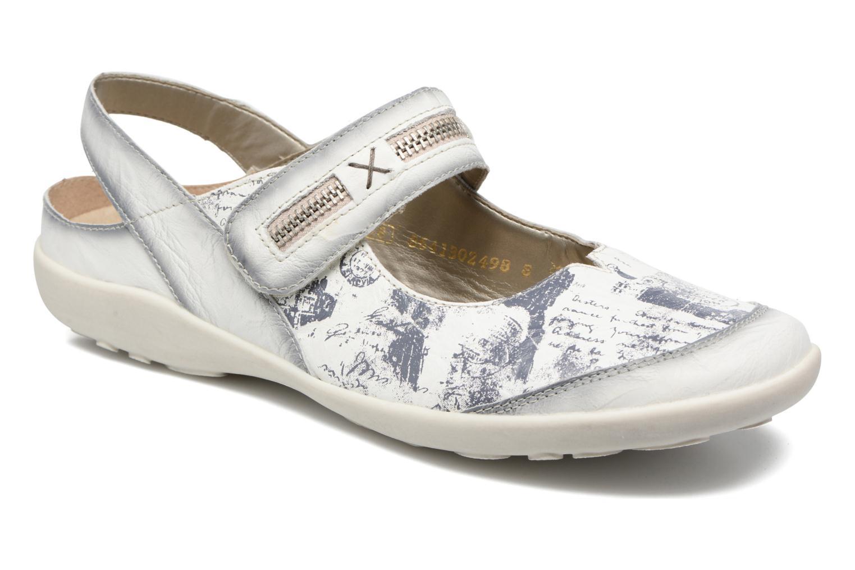 Ballerinaer Remonte Lau R1741 Hvid detaljeret billede af skoene