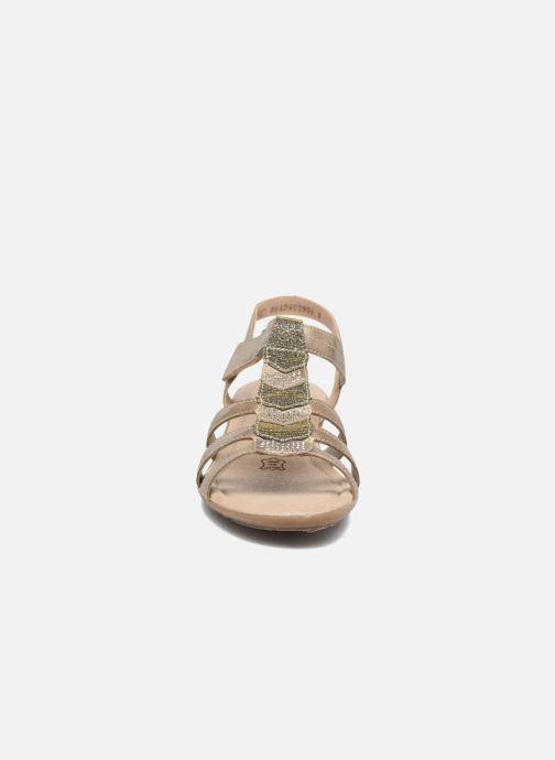 Sandales et nu-pieds Remonte Leoni R3637 Or et bronze vue portées chaussures