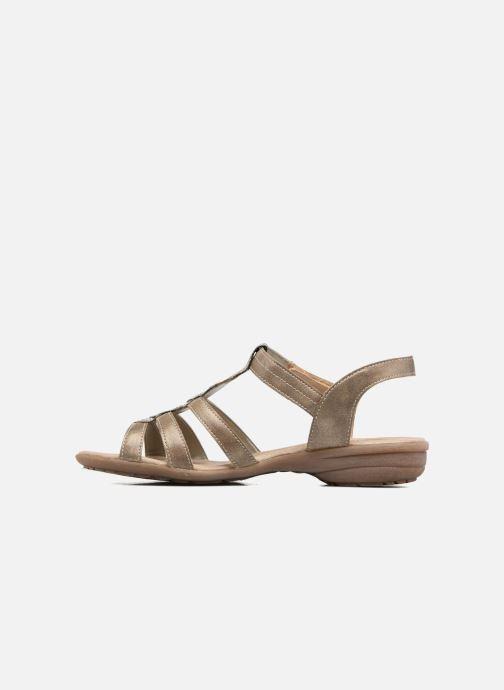 Sandales et nu-pieds Remonte Leoni R3637 Or et bronze vue face