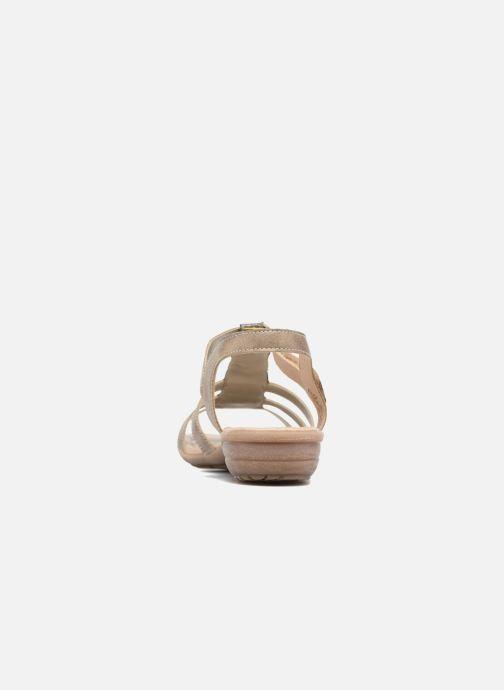 Sandales et nu-pieds Remonte Leoni R3637 Or et bronze vue droite
