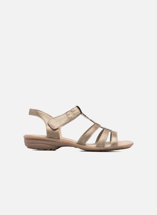 Sandales et nu-pieds Remonte Leoni R3637 Or et bronze vue derrière