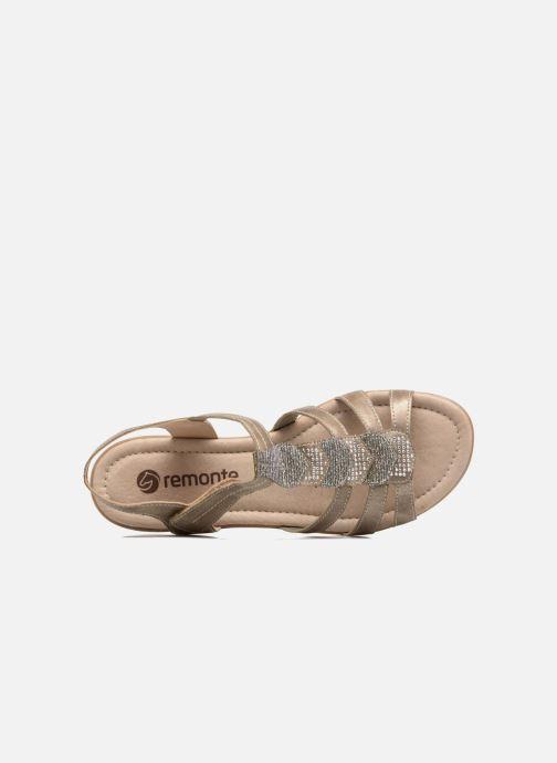 Sandales et nu-pieds Remonte Leoni R3637 Or et bronze vue gauche