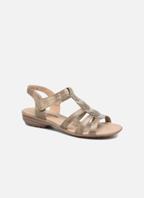 Sandales et nu-pieds Remonte Leoni R3637 Or et bronze vue détail/paire