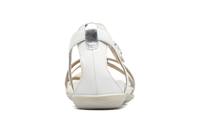 Sandales et nu-pieds Remonte Rena R7451 Blanc vue droite