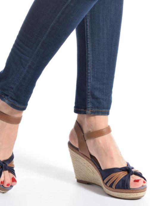 Sandales et nu-pieds Tom Tailor Estepona Bleu vue bas / vue portée sac