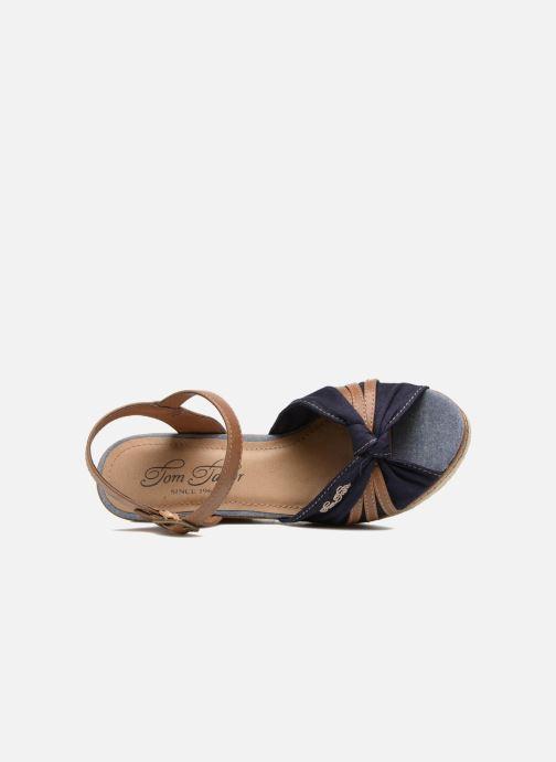 Sandales et nu-pieds Tom Tailor Estepona Bleu vue gauche