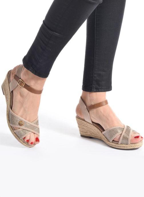 Sandales et nu-pieds Tom Tailor Vulquin Beige vue bas / vue portée sac